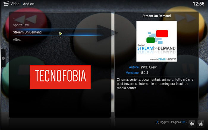 Streaming senza registrazione: plugin su Kodi