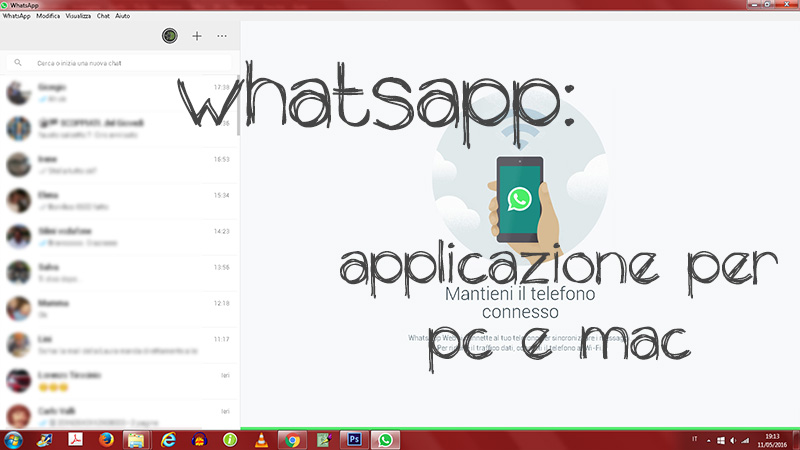 WHATSAPP PC : ora c'è il programma!