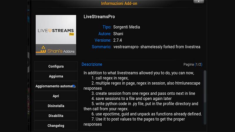 Live Streams Pro Kodi addon anche per Evil Freedom